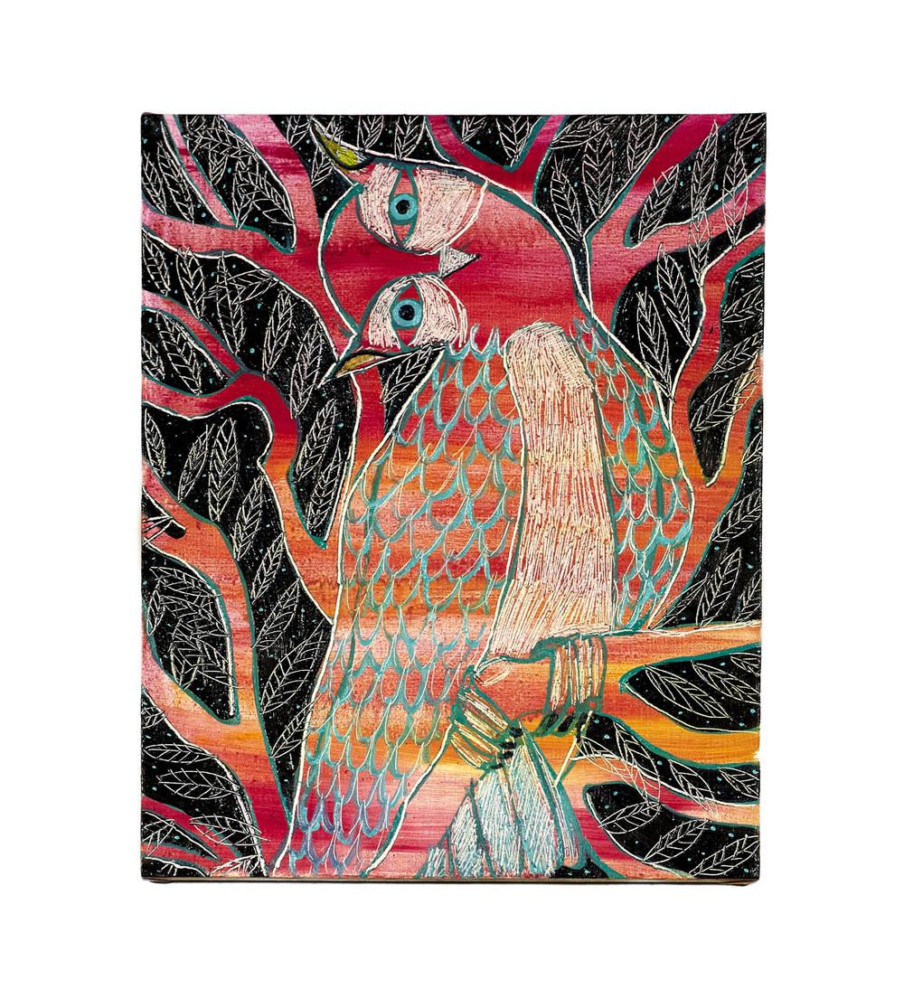 Ryan Schneider.Understanding Owl, 2014, oil on linen, 56 cm x 46 cm