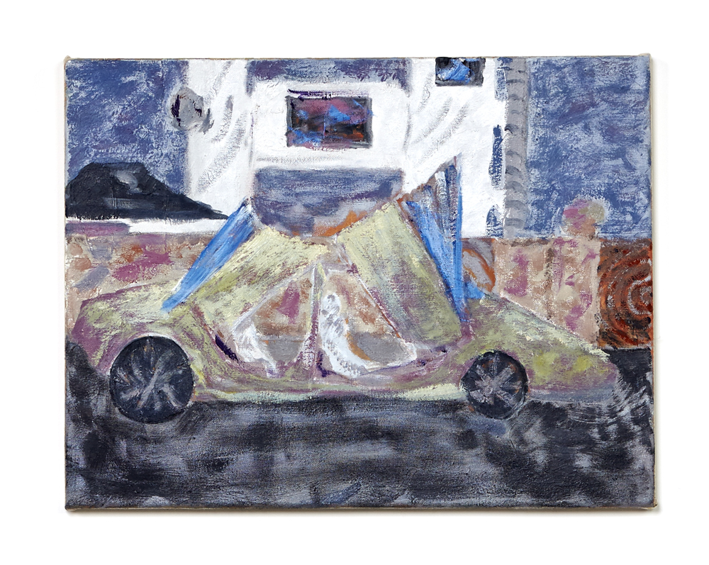 Mads Westrup, Suicide doors and random cabbage #5, 2014, oil on canvas, 40 x 52 cm