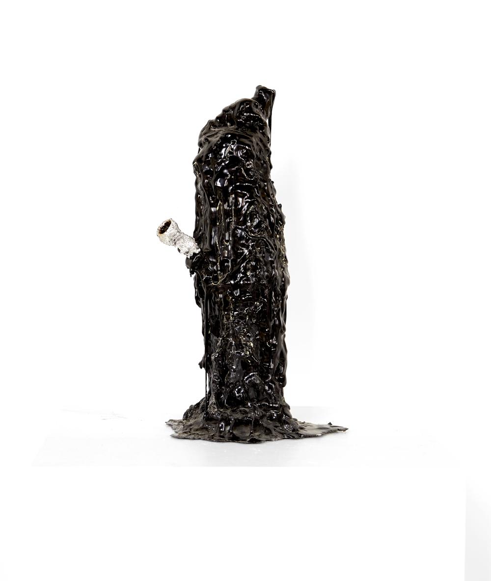 Michelle Pagèl, Bong, 2011, plastic, aluminum foil, burnt weed, 33 x 20 cm
