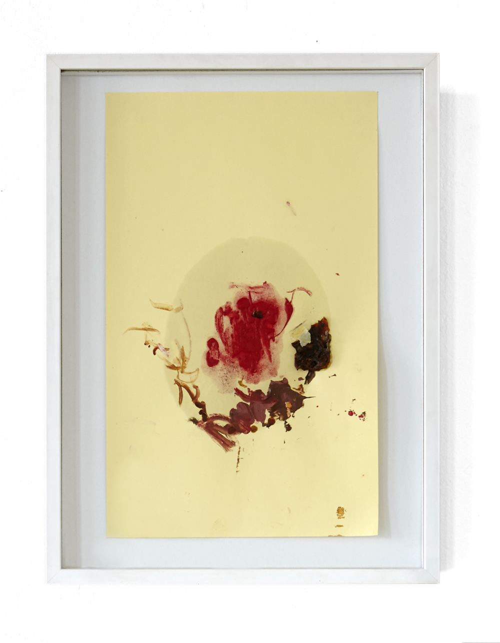 Karine Fauchard, Chinoisierie (Goldfish), 2013, mixed media and oil on paper, 43 x 32 cm, white floating frame