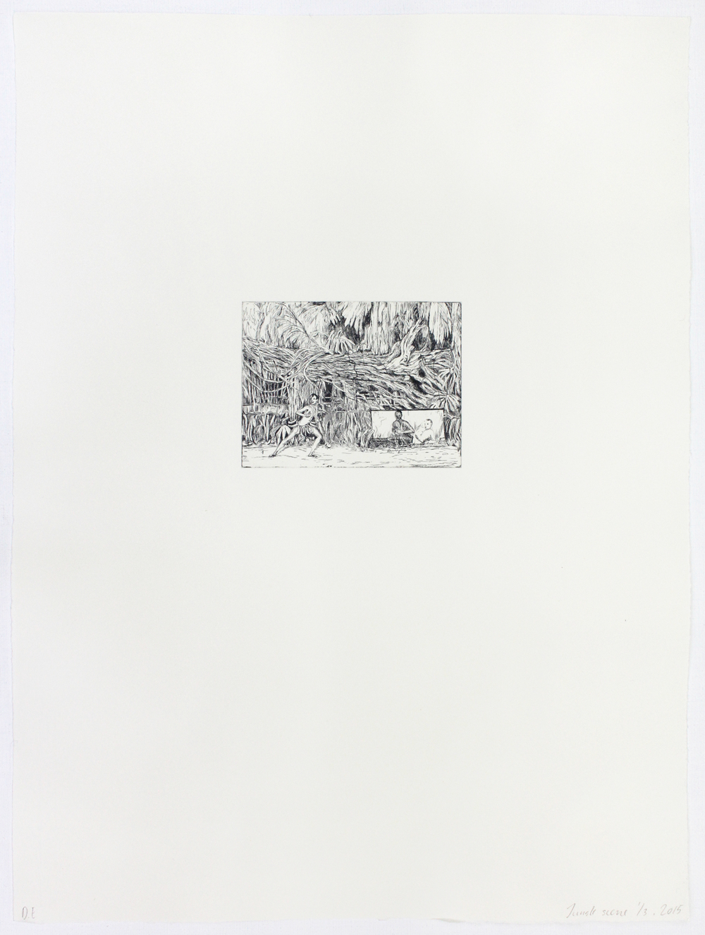 Jungle, 2013, Copper plate print (9,2 x 12,5 cm) on paper 53 x 39 cm, edition of 3, (paper view).jpg