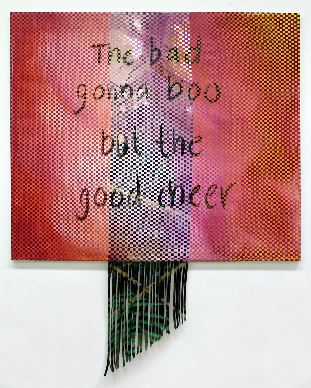 The Bad Gonna Boo, 2015, 122 (+ 56) x 140 cm, oil on 3 canvases, weaved together.jpg