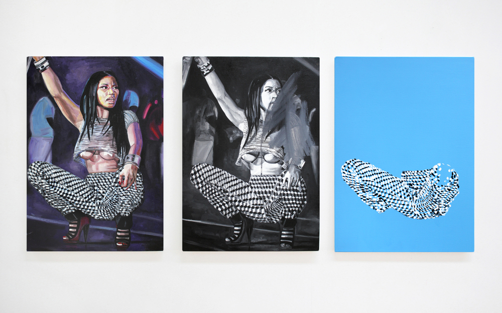 The Minaj Pants Triptych, 2015, Triptych; 3 pieces of46 x 65 cm each, oil on canvas.jpg