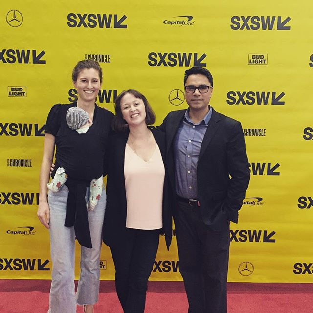 Toting around the youngest guest of @sxsw #sxsw2018 #SexTech&Money #SexTech&youth @ythorg @hopelab_org