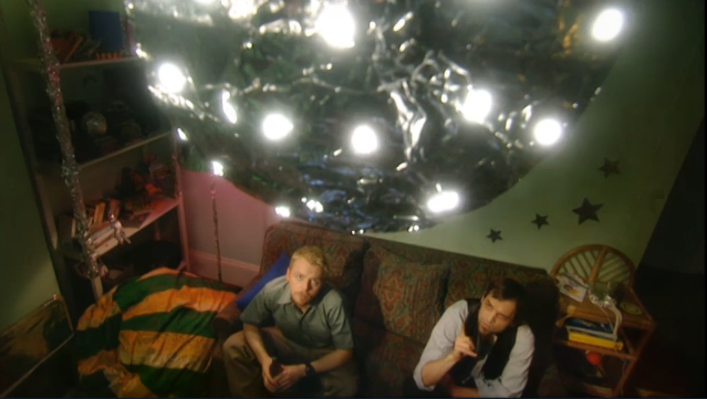 Season 1, Episode 2 of Spaced, where the house party is about to start...