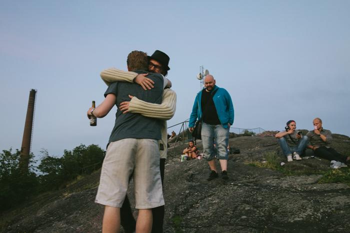 Solnedgång på Skinnarviksberget