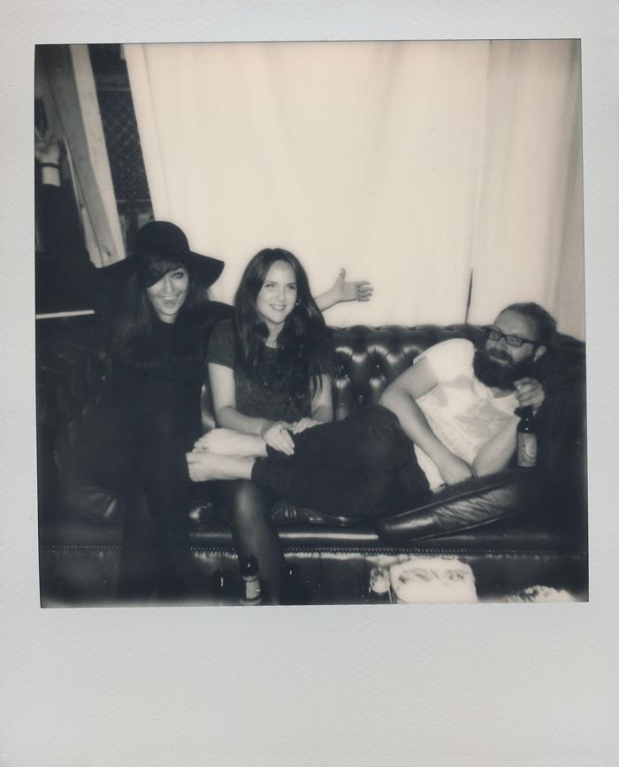 Amanda, Elsa och Micke.