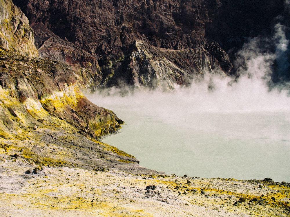 vulkansjö på nya zeeland