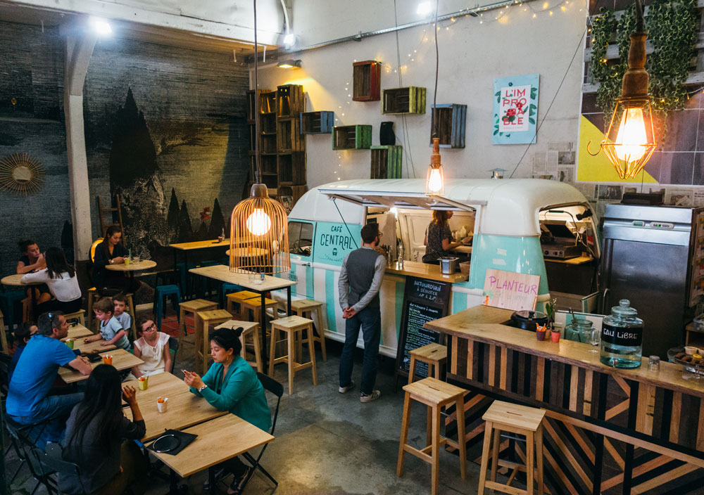 L'Improbable Café som är ett annorlunda och mysigt café i stadsdelen Le Marais i Paris.