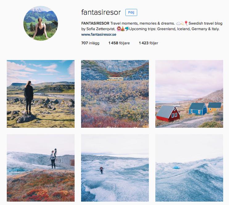 Fantasiresor instagram och reseblogg.