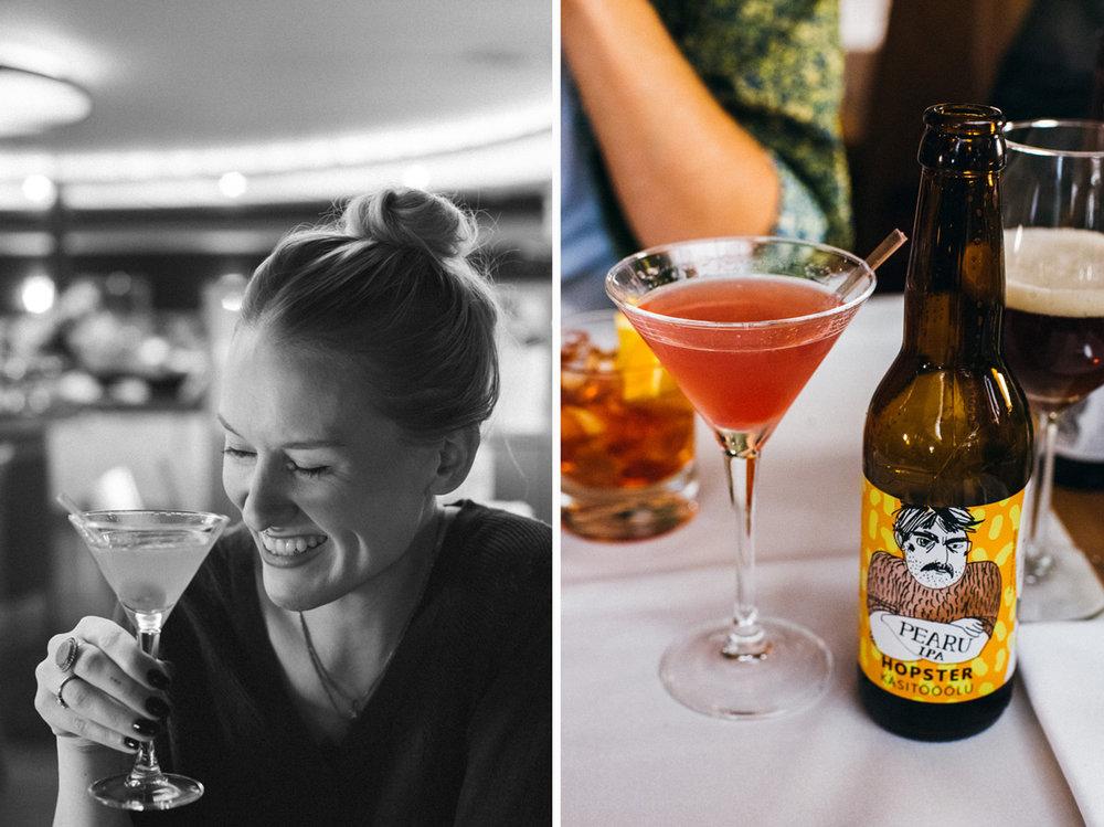 Middag och drinkar på Piazza a la carte, M/S Victoria kryssning till Tallinn på Tallink Silja båt
