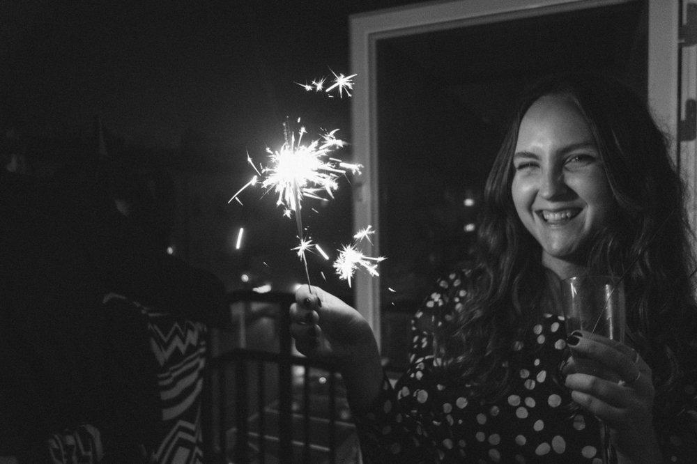 nyårsafton 2016 i Bredäng tomtebloss Elsa Soläng