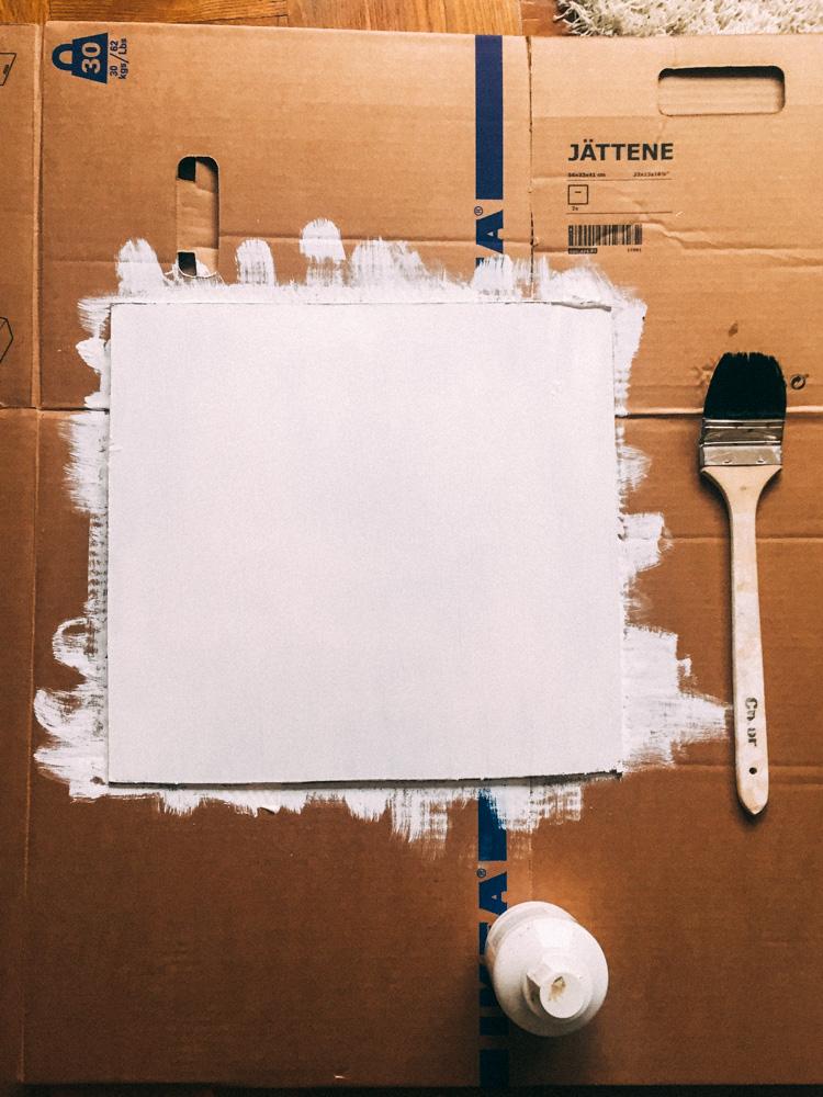 Rita måla förberedelse kreativ konstnär