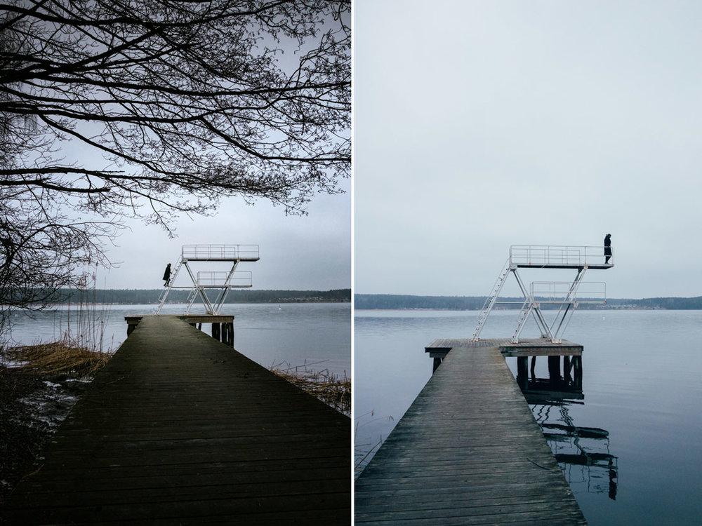Badplats på Lidingö Stockholm