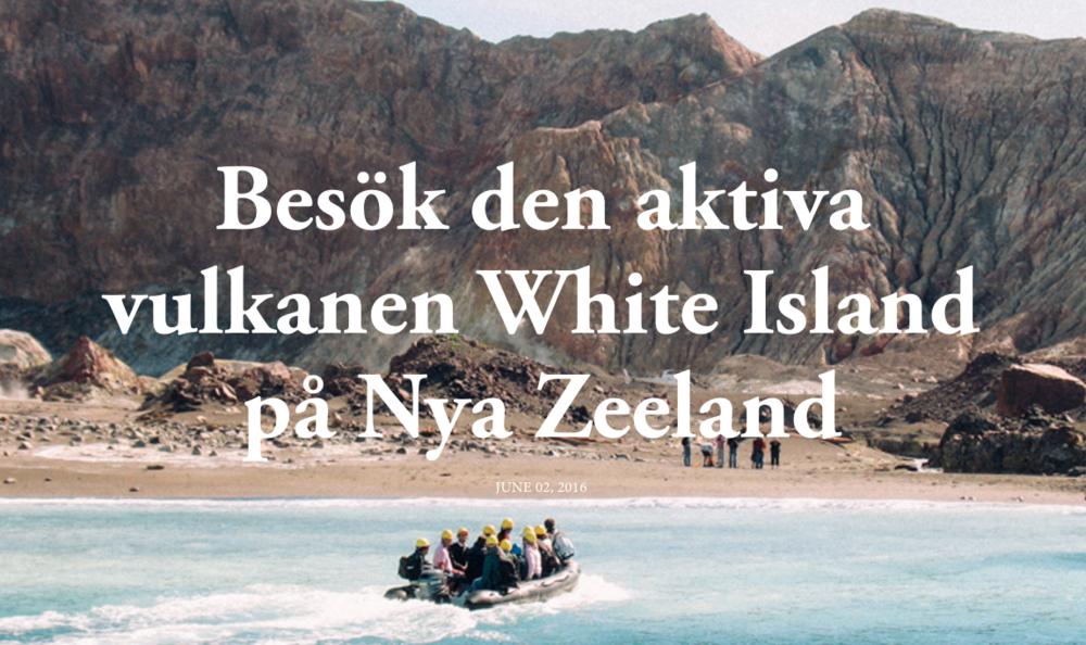 Vandra på vulkanen White island i Nya zeeland