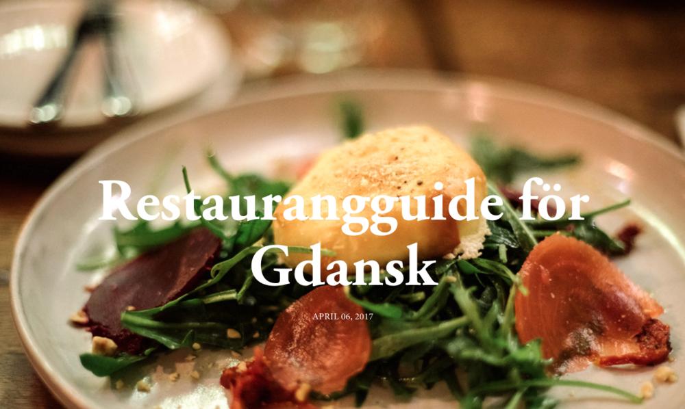 restaurang guide gdansk