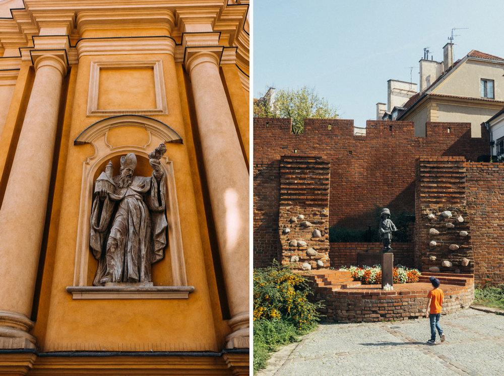 guidad tur genom gamla stan i Warszawa  Statue of the Little Insurgent