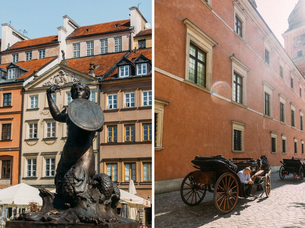 guidad tur genom gamla stan i Warszawa sjöjungfru