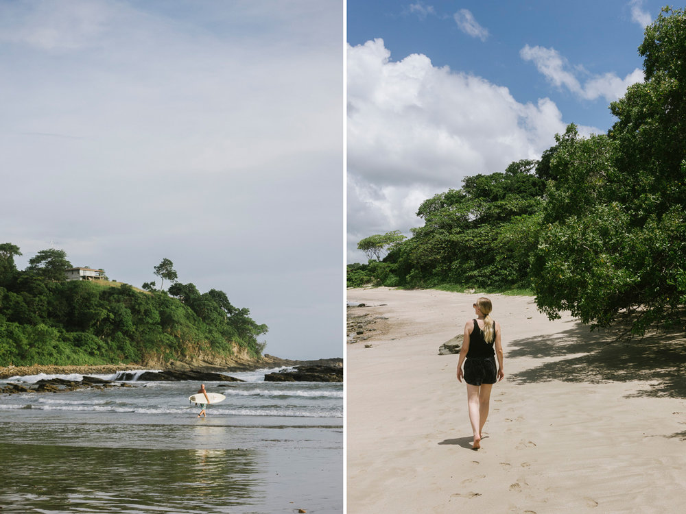 Stranden Playa Maderas i Nicaragua
