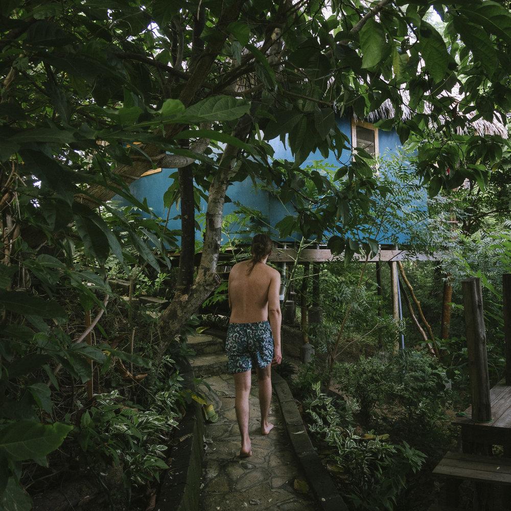 Hostel Clandestino Nicaraguas bästa hostel vid Playa Maderas