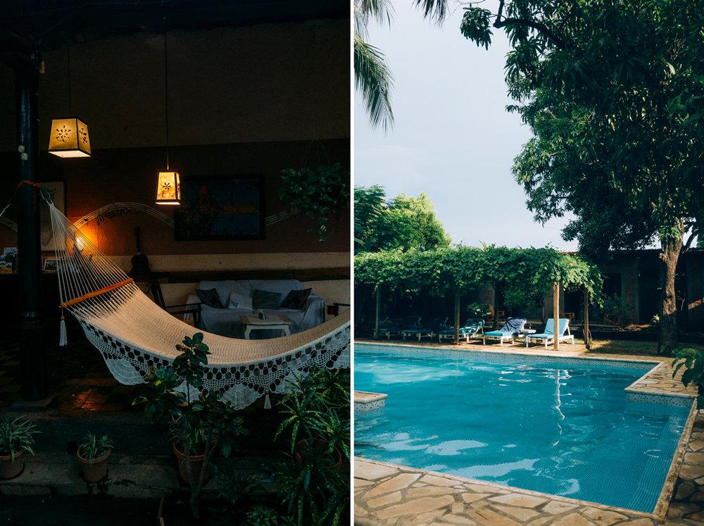 Casa Abierta Eco hostel med pool i Leon Nicaragua