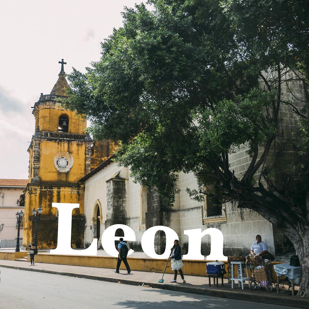 Saker att se och hostel guide till Leon i Nicaragua