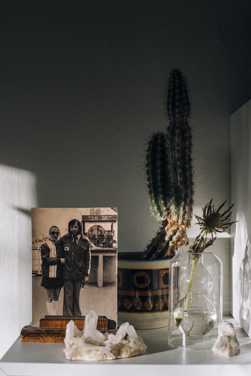bohemisk inredning med kaktus
