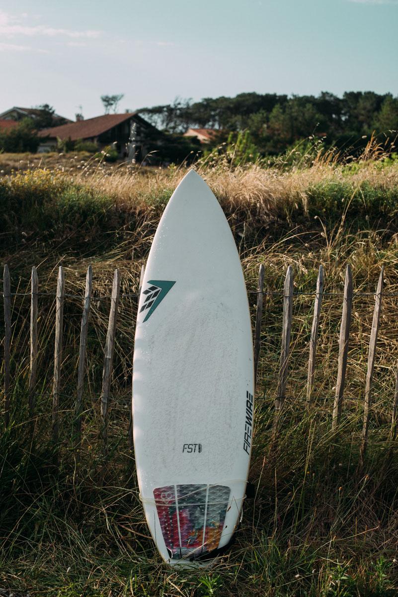 Surfa och tälta på camping i Capreton Frankrike