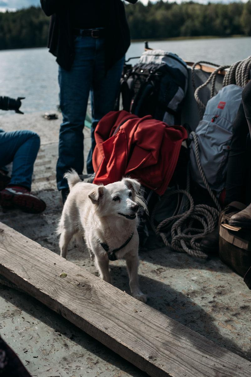 åker båt till ön lindö under summer workation med influencers of sweden