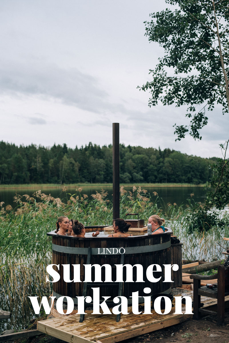 bada badtunna på summer workation på lindö med influencers of sweden