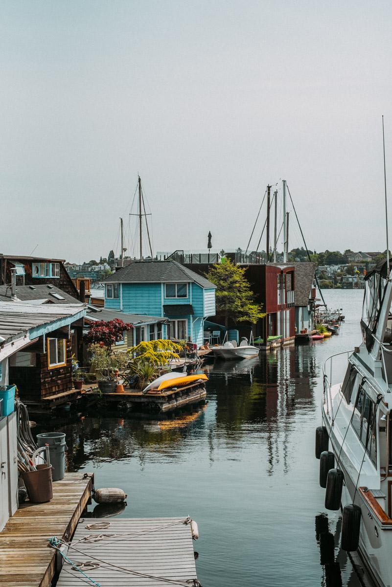 båthus vid lake union där sömnlös i seattle spelades in