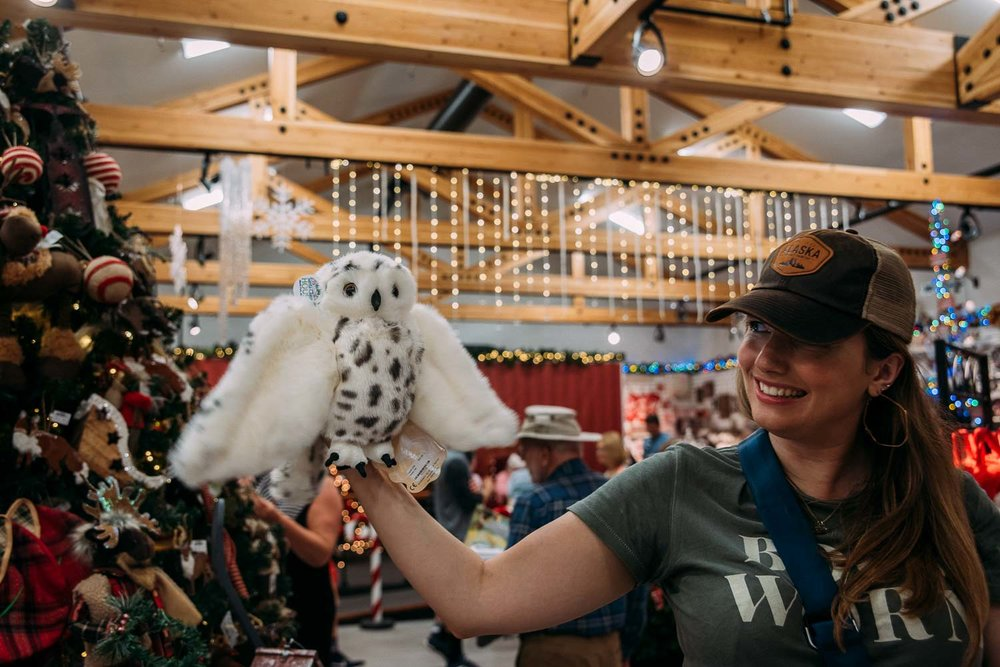 köpa juldekorationer i Santa Claus House i North Pole Alaska