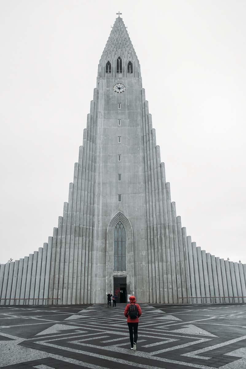 Hallgrimskirkja i Reykjavik