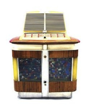 Wurlitzer jukebox, model 1015, circa 1947, designed by Paul Fulle.