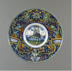 Maiolica Plate Brit Museum