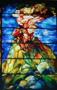 Smaller version of  Mount Sinai Window,  Tiffany Studios, Private Collection