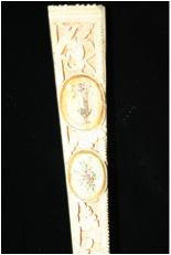 Detail of Marriage Fan, exterior guard sticks