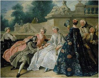 La Declaration d'Amour , 1731  Jean François de Troy  Oil on canvas  Berlin, Charlottenburg Palace