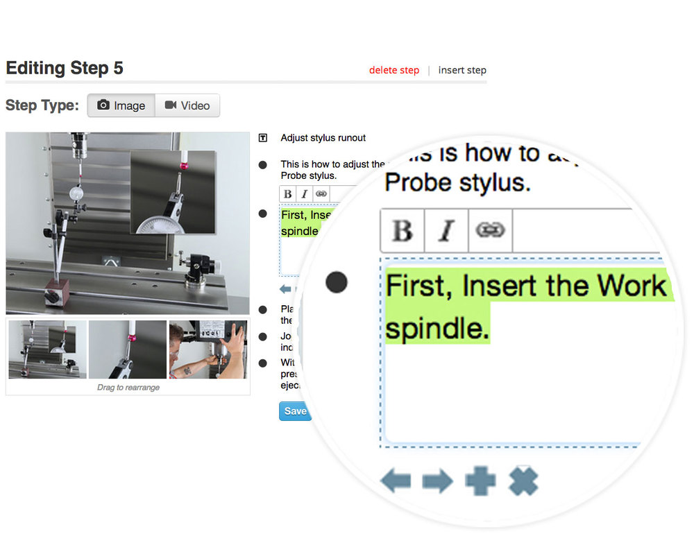 visual work instruction template - for aerospace dozuki