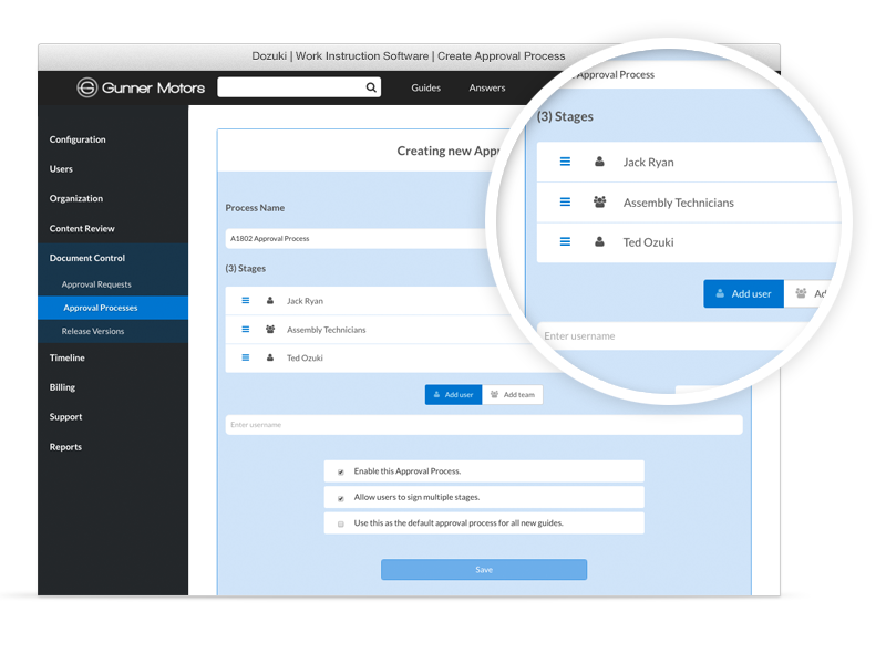 Whether you require single sign-off or multiple authorizations, our intuitive platform makes it simple to customize your own approval processes.