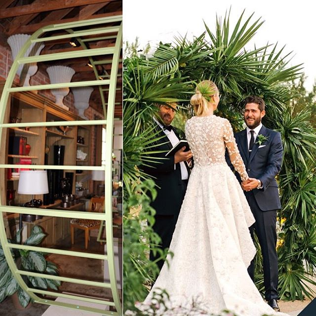 The before & after of @whitneyeveport's #weddingarbor! We painted the arch the week of the wedding to match the green leaves & carefully assembled the palm leaves the day of the #wedding. Whitney had this vision in mind and we're happy we were able to bring it to life! Photo by: @hannah.costello #whitneyport #celebritywedding #weddingplanner #weddingplanning #palmspringswedding #palmsprings #bride #floraldesign #beverlyhills #florist #flowers #darlingweekend #thatsdarling #lastory #discoverla
