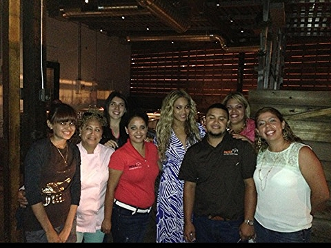 Beyonce Knowles & staff