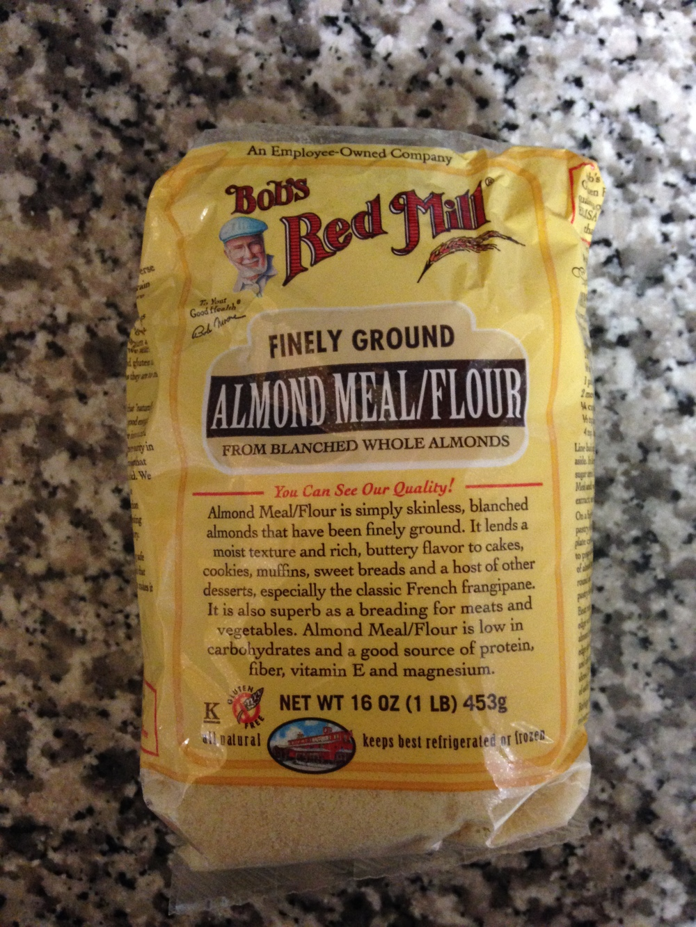 Almond meal/flour can be used as a low-carb, gluten-free alternative to bread crumbs and AP flour.