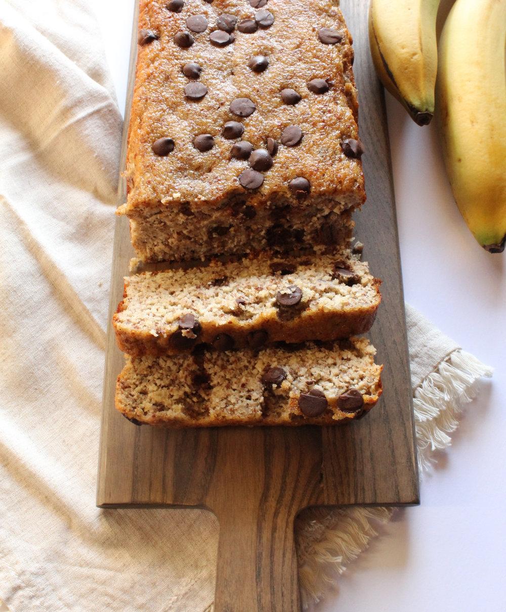 Chocolate Chip Banana Bread - Gluten & Dairy-Free