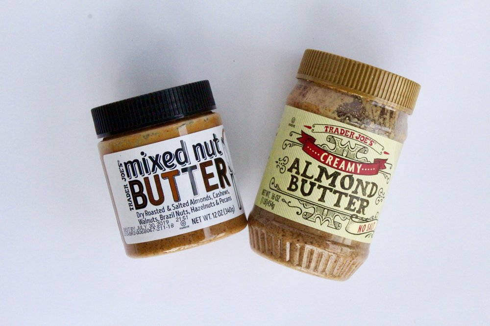 3. Nut Butters - I have seen almond butter to be absurdly expensive at grocery stores…over $10 a jar! Which is why I almost always buy my nut butters from TJs. These are my two favorites – creamy almond butter and mixed nut butter. (priced between $4.99-5.99)