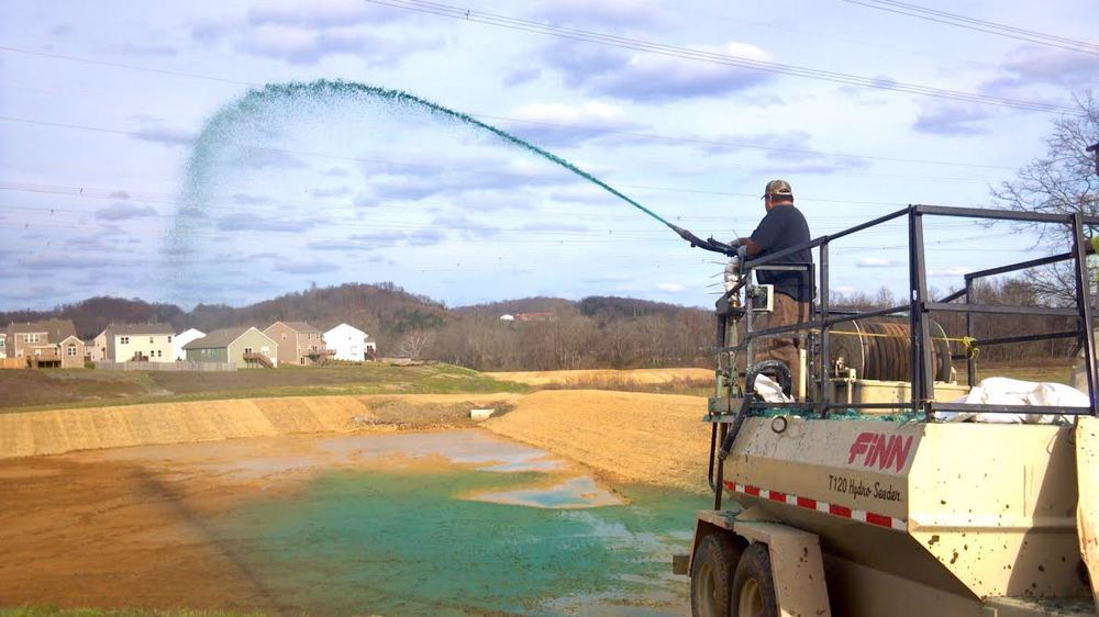Hydroseeding   Toccoa has The FINN T120 Hydroseeder. It is a real workhorse for hydroseeding projects that demand a 1,000 gallon working tank capacity. Ideal to seed, fertilize and mulch 1/3 acre per load in an easy one-step process. With the added flexibility utilizing the tower gun and hose with a remote value simultaneously, work sites can be completed in record time.