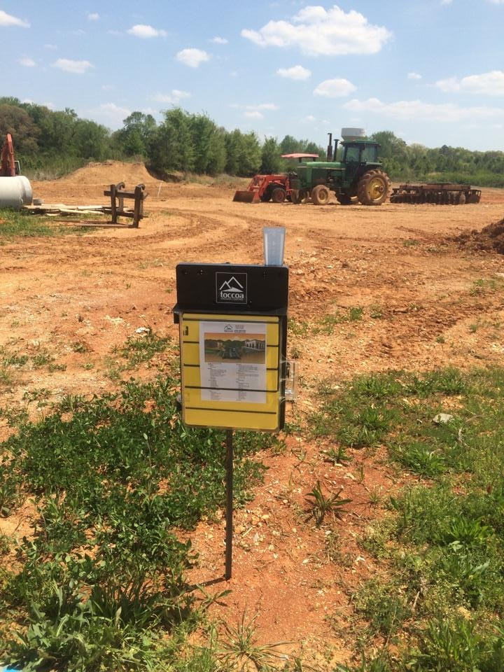 ADEM Facility ID Box   Our weatherproof box is a lockable on-site storage box for SWPPP , CBMPP plans & permits Complies with State and local requirements for proper posting of compliance information at the front of the property.