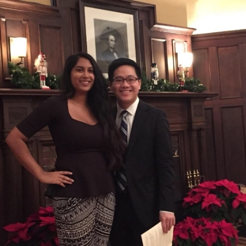 2015 President Swetha Doppalapudi and 2016 President Chris Yu