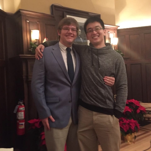 2015 House Manager Dan Chen and 2016 House Manager Andrew Ruchames