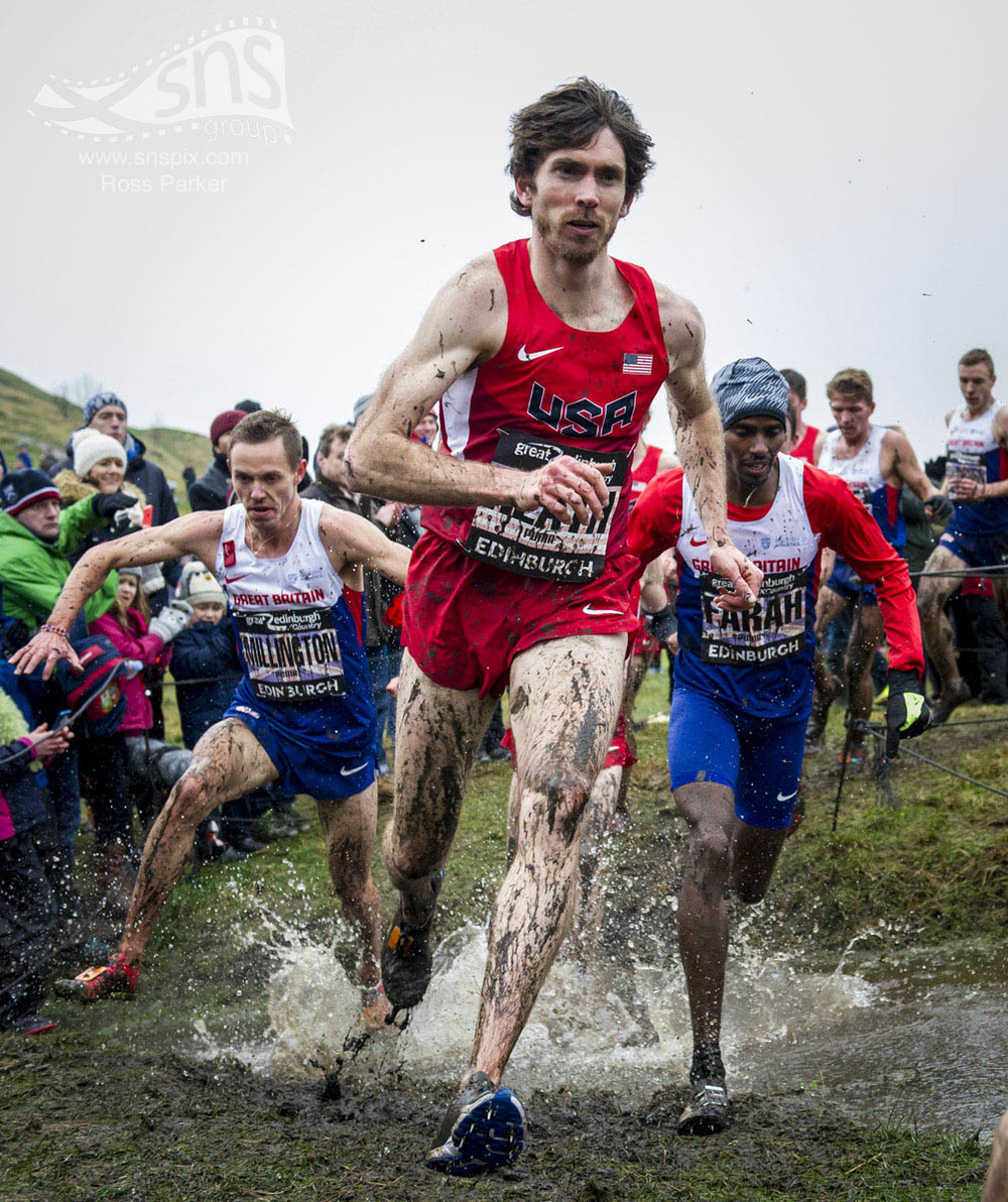 Garrett Heath on his way to winning the Great Edinburgh Run 2016.